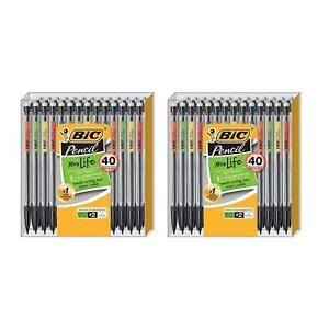 Bic Xtra Life Mechanical Pencil Medium Point 0 7 Mm 40 pack 2 Box