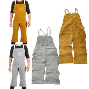 Welder Aprons Weld Clothing Workwear Safety Artificial Cowhide Leather Gear