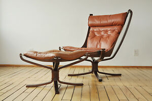 Vatne Mobler Sigurd Ressell Chair And Ottoman Danish Mid Century