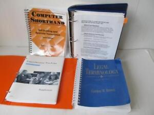 Court Reporter s Books Computer Shorthand legal Terminology freer