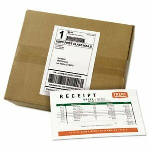 Avery Shipping Labels With Paper Receipt Bulk Pack White 500 Labels ave27902