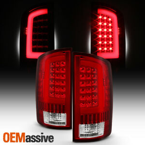 Fit 2002 2006 Dodge Ram 1500 2003 2006 2500 3500 Led Bar Tail Lights Red Clear