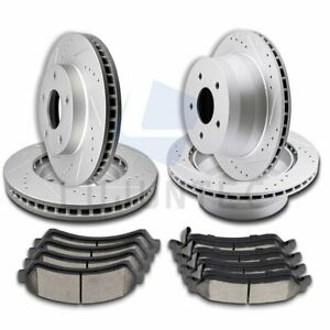 2x Front And 2x Rear Brake Discs Rotors Ceramic Pads For 1998 2001 Gmc Jimmy