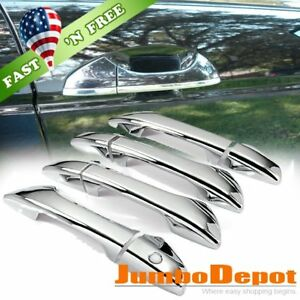 Us Triple Chrome Side Door Handle Cover Trim Fit 2008 2012 Honda Accord Sedan