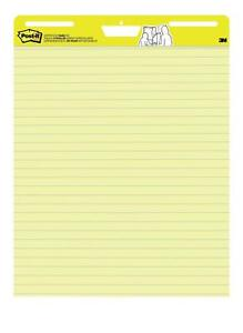 Post it Super Sticky Easel Pad 25 X 30 Inches 30 Sheets pad 2 Pads 561 Lined