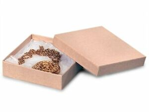 Kraft Cotton Filled Jewelry Box 33 Case Of 100