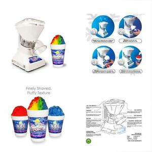 Little 2 Shaved Ice Machines Shaver Premium Snow Cone With Syrup Samples