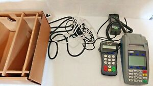 First Data Fd50ti Credit debit Terminal W Fd 10 Pin Pad And Power Ethernet Dial