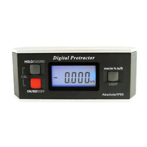 360 Inclinometer Digital Protractor Angle Finder Gauge With Magnetic Base
