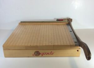 Ingento No 4 Guillotine Paper Cutter Trimmer 12 X 12 Usa Vintage