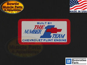 Camaro Corvette Chevelle Chevy Flint Engine Decal 302 307 327 350 396 427 454