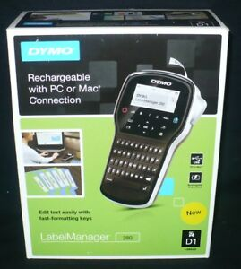 Dymo 280 Label Manager Handheld Label Maker Rechargeable New