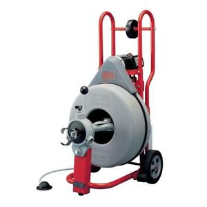 Ridgid 115 volt K 750 Autofeed Drain Cleaner Machine With 3 4 In Pigtail