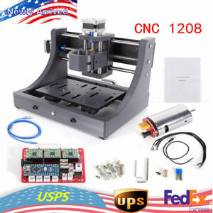 3 Axis Diy 1208 Cnc Router Engraving Milling Machine Wood pcb Carving Hot