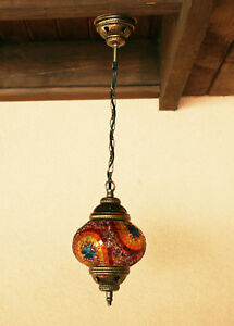 Chandelier Handmade Turkish Mosaic Hanging Lamp Light Ceiling Stained Glass 3