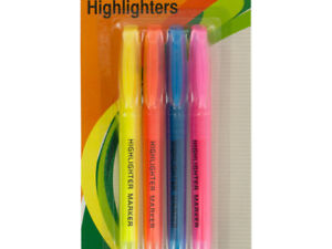 Highlighters Set Of 4 Piece Quick drying Chisel Tip Pack Of 18 Markers