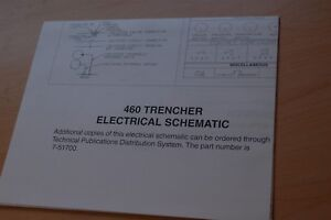 Case 460 Tractor Trencher Hydraulic Electrical Schematic Wiring Diagram Manual