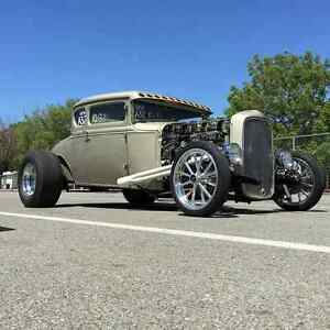 Vaphead Swept Front Frame Hot Rod Old School Rat Rod Low 1928 31 Model A Ford