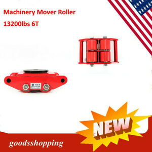 Industrial Machinery Mover 6t 13200lb Heavy Duty Machine Dolly Skate Roller 360