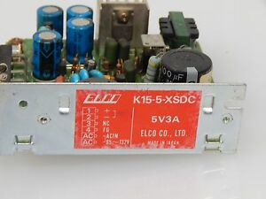 Elco Power Supply K15 5 xsdc 5v3a 85 132 Volts Input