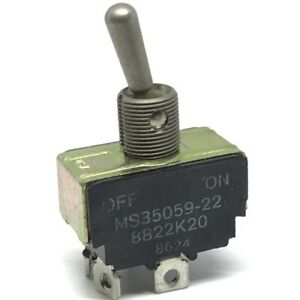 On Off Toggle Switch Military Ms35059 22 8822k20