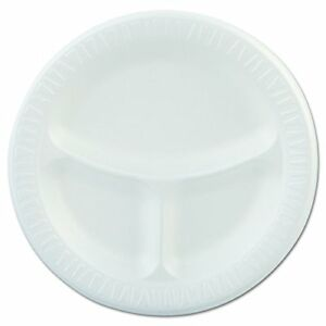 9cpwqr 9 3 Compartment White Foam Plate