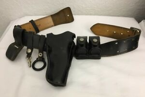 Don Hume B101 Police Duty Belt With 38 Or 357 Holster W speed Loader Acessories