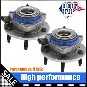 Moog Front Left And Right Wheel Hub Bearing Assembly Pair 2 W Abs