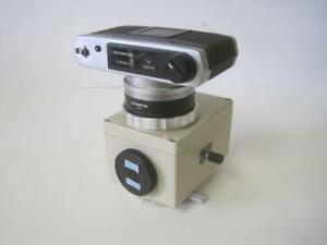 Olympus C 35ad 4 Microscope Camera With Pm 10ad Automatic Exposure Body Used