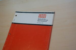 Case Aw750 Aw1250 Av1500 Plate Compactor Parts Manual Spare List Walk Behind Oem
