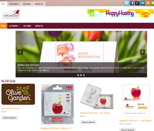 Gift Cards Website Affiliate Store