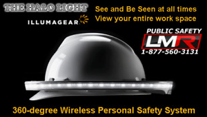 Halo 360 degree Led Personal Safety And Task Light For Hard Hat Amber