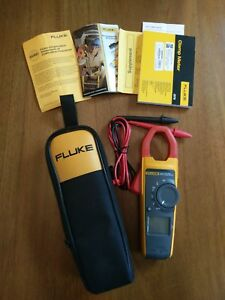 New Without Box Fluke True Rms Ac Dc Current Clamp Multi Meter 373