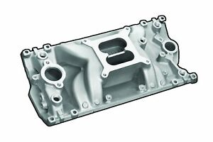E Force 82028 Chevy Sbc 350 Dual Plane With Divider Vortec Intake Manifold Satin