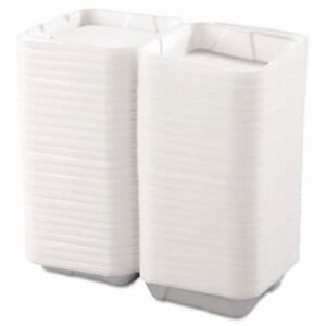 Boardwalk Large 1 Compartment Foam Hinged Containers 200 Containers bwk 0100
