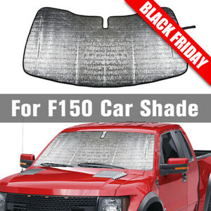 Front Window Sun Shade Visor Folding Auto Windshield Block Cover For Ford F150
