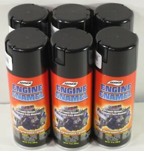 Aervoe 514 Engine Enamel Paint Gloss Black 12 Oz Can Case Of Six Cans