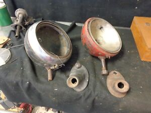 Ford 1935 1936 1937 Truck Headlights With Stands Vintage Hot Rat Rod