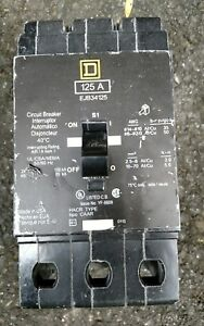 Square D Ejb34125 3pole 125amp Nf Panel Type Circuit Breaker Warranty