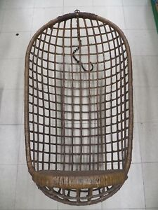 Antique Wicker Hanging Egg Chair Egg Shaped Swing Chair 50 T X 26 L K