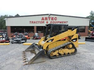 2013 Caterpillar 259b3 Skid Steer Loader Bobcat Multi Terrain Very Nice