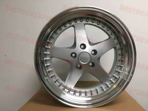 Four 18 Staggered Silver Equip Style Rims Fit Lexus Gs Gs350 Gs430 Is300 Is250
