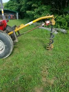 Leinbach Line Tractor 3 point Post Hole Digger W 12 Auger Can Ship