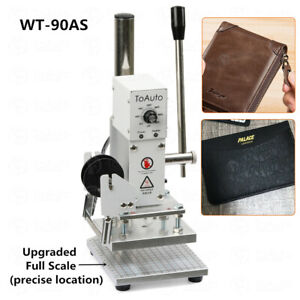 220v Manual Leather Hot Foil Stamping Machine 10 13cm Stamper Embossing