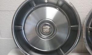Genuine 1966 Cadillac Coupe Deville Fleetwood Hubcaps Wheel Covers Set Of 4