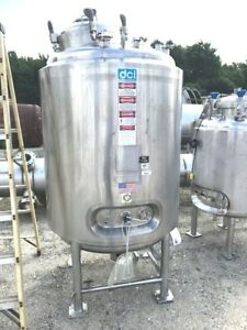 Used 1 200 Liter 300 Gallon Food Grade Stainless Steel Reactor Vessel W Mixer