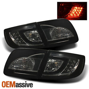 non Hatchback Fits 2004 2008 Mazda 3 Smoked Led Tail Lights Replacement Set