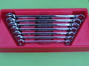 Snap On Soex707 Sae Wrench Set 3 8 To 3 4 Flank Drive Plus Soex12 To Soex24