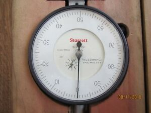 Starrett Dial Drop Indicator 10 Inch mint Condition