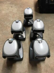Lot Of 5 Honeywell Ncr 3820 Wireless Bluetooth Barcode Scanner W base